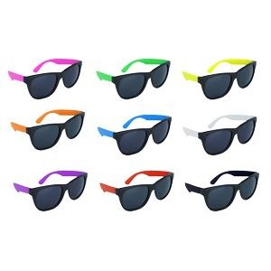 Black Frame Sunglasses w/Neon Temples