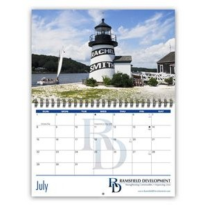Letterbox Wire-Bound 13-Photo Compact Wall Calendar