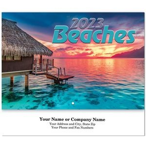 Beaches Stitched Wall Calendar