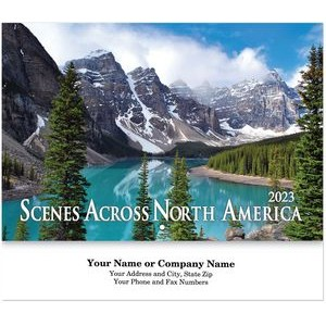 Scenes Across North America Stitched Wall Calendar