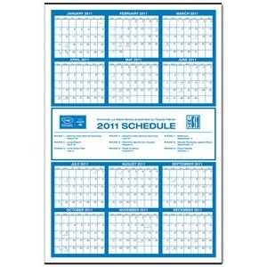 Jumbo Year-at-a-Glance Commercial Wall Calendar w/ Middle Ad