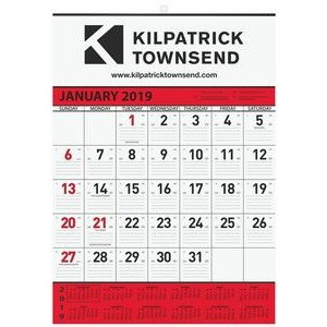 "Red Contractor Calendars w/1 Image & 1 Color Imprint (18""x25"")"