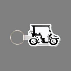 Key Ring & Punch Tag - Golf Cart (Side)