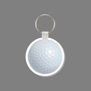 Key Ring & Full Color Punch Tag - Golf Ball