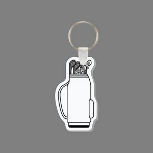 Key Ring & Punch Tag - Golf Clubs