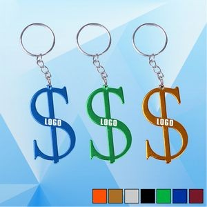 Dollar Shape Key Ring w/ Bottle Opener