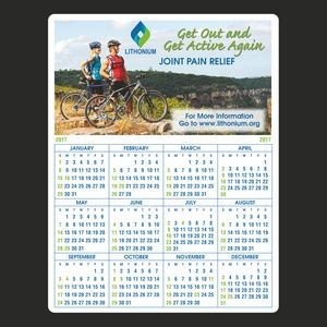 Year at a Glance Full Color Plastic Write-On / Wipe off Wall Calendar