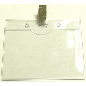 "Clear Vinyl Badge Holder w/ Removable Clip (4""x3"")"