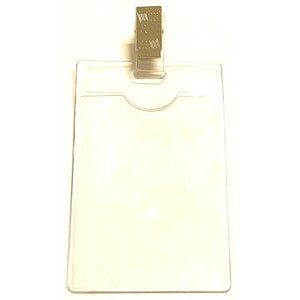 "Clear Vinyl Badge Holder w/ Removable Clip (2.25""x3.25"")"