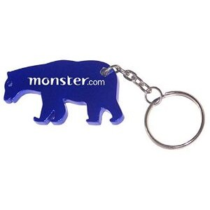 Bear Aluminum Bottle Opener with Keychain (9 Week Production)