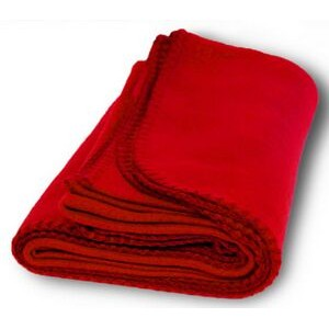 "Fleece Blanket 50"" X 60""- Red"