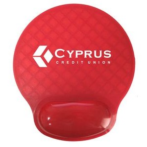 BRIGHT Gel Wrist Rest Mouse Pad - Red